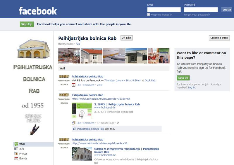 Facebook bolnice