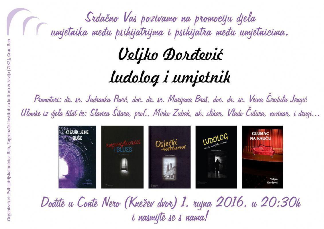 Promocija djela Veljka Đorđevića, psihijatra među umjetnicima, umjetnika među psihijatrima