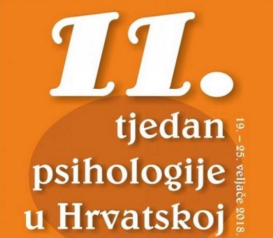 11. tjedan psihologije u Hrvatskoj