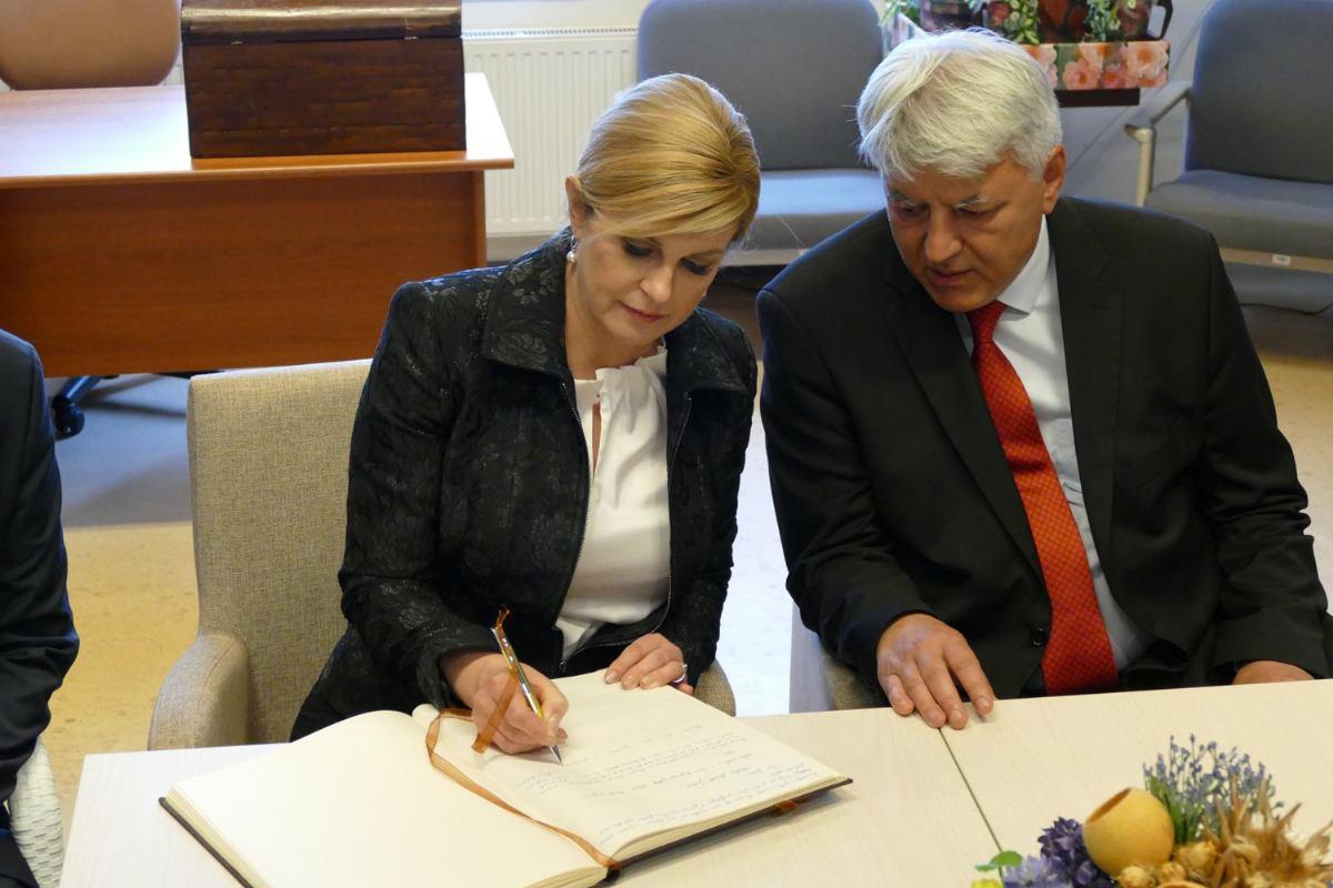 Predsjednica Republike Hrvatske posjetila Psihijatrijsku bolnicu Rab